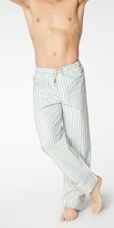 Bedhead Men's Blue Railroad Stripe Classic Cotton Pajama Pant