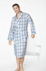 Bedhead Men's Coastal Check Cotton Robe
