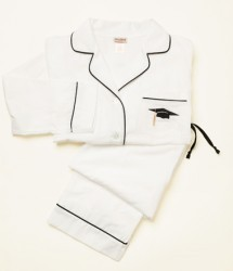 "Bedhead Men's ""Graduation"" Embroidered Classic Cotton Pajama Set"