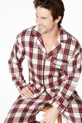 Bedhead Men's Red Winter Plaid Flannel Classic Pajama Set