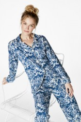 "Bedhead Women's ""Navy Under The Sea"" Classic Stretch Pajama Set"