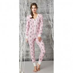 Bedhead Women's Pink Penguins On Parade Stretch Onesie