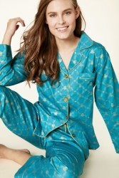 Bedhead Women's Peacock Queen Bee Classic Sateen Pajama Set
