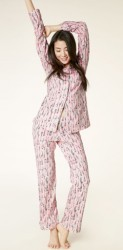 "Bedhead Women's ""Pink Spooning"" Classic Stretch Pajama Set"
