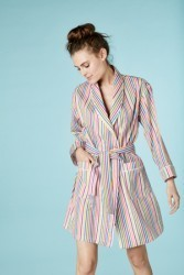 "Bedhead Women's ""Sugar Stripe"" Short Cotton Robe"