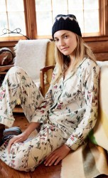 "Bedhead Women's ""Ski Village"" Classic Stretch Pajama Set"