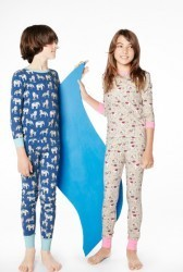 "Bedhead Tween Navy ""Three Ring Circus"" Stretch Pajama Set"