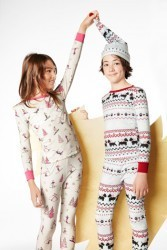 "Bedhead Tween Pink ""Ski Bunnies"" Stretch PJ Set"