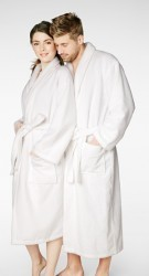 Bedhead Women's Classic White Terry Velour Robe