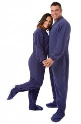 Big Feet Pajamas Adult Purple Fleece One Piece Footy