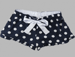 Boxercraft Women's Navy & White Dot Flannel Boxer Shorts