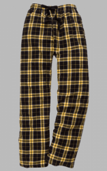 Boxercraft Black and Gold Plaid Unisex Flannel Pajama Pant