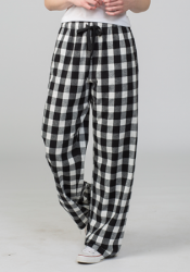 Boxercraft Black and White Buffalo Plaid Unisex Flannel Pajama Pant