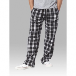 Boxercraft Black and White Unisex Flannel Pajama Pant