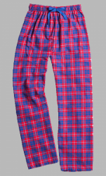 Boxercraft Blue and Red Unisex Flannel Pajama Pant