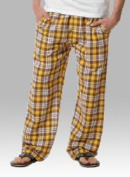 Boxercraft Brown and Gold Unisex Flannel Pajama Pant