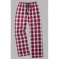 Boxercraft Garnet and White Plaid Unisex Flannel Pajama Pant