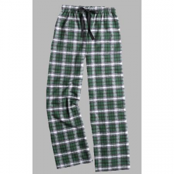 Boxercraft Green and White Unisex Flannel Pajama Pant