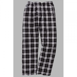 Boxercraft Men's Black and White Classic Flannel Pant