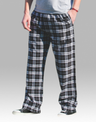 Boxercraft Men's Black and White Classic Plaid Flannel Pajama Pant