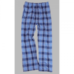Boxercraft Men's Columbia Blue and Navy Classic Plaid Flannel Pajama Pant