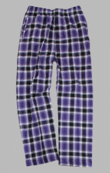 Boxercraft Men's Purple and Black Classic Flannel Pant