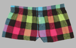 Boxercraft Neon Buffalo Plaid Flannel Bitty Boxer