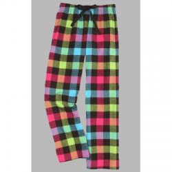 Boxercraft Neon Buffalo Plaid Unisex Flannel Plaid Pajama Pant