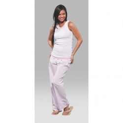 Boxercraft Women's Pink Seersucker Cotton Pajama Pant