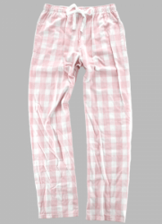 Boxercraft Pink and Natural Buffalo Plaid Unisex Flannel Pajama Pant