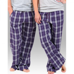 Boxercraft Purple and White Unisex Flannel Plaid Pajama Pant