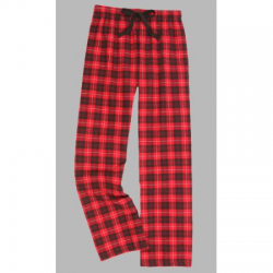 Boxercraft Red and Black Plaid Flannel Pajama Pant