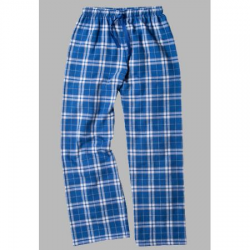 Boxercraft Royal and Silver Plaid Unisex Flannel Pajama Pant
