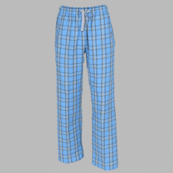 Boxercraft Sky Blue & Grey Unisex Flannel Plaid Pajama Pant