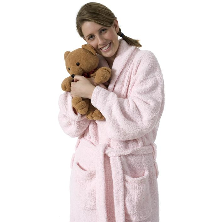 Kashwere Super Soft Shawl Collared Robe in Pink