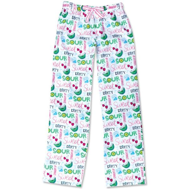"Be As You Are ""Sweet & Sour"" Women's Sleep Pant in White"