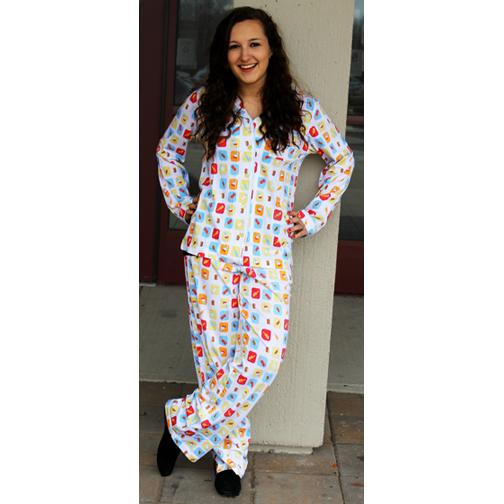 "Munki Women's ""Ice Cream Bars"" Cotton Knit Pajama"