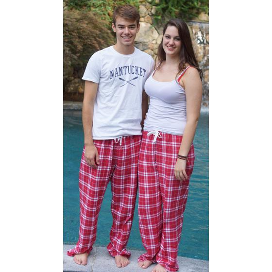 Boxercraft Cardinal Red Plaid Unisex Flannel Plaid Pajama Pant