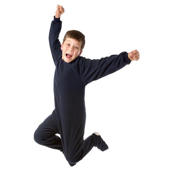 Kids Big Feet Pajamas Navy Fleece One Piece Footy 4c4d6ef17d