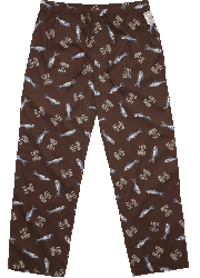 "Life is good Men's ""Tossed Fish"" Cotton Pajama Pant in Cargo Brown"