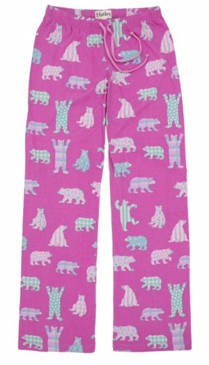 "Hatley Nature ""Pink Bears"" Women's Cotton Knit Pajama Pant"