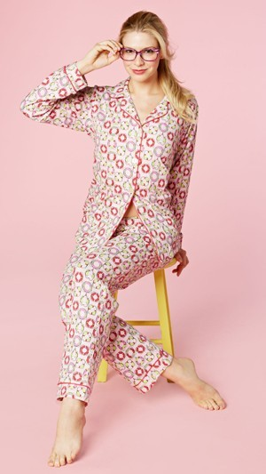"Bedhead Women's ""Pink Lifesavers"" Classic Stretch Pajama Set"