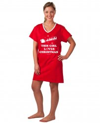 Emerson Street This Girl Loves Christmas Holiday Nightshirt