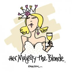 "Emerson Street ""Her Majesty the Blonde."" Nightshirt in a Bag"