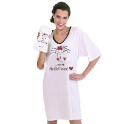 Emerson Street Nurses Have Heart Nightshirt in A Bag