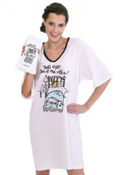 "Emerson Street ""That's right...I'm at the Office"" Nightshirt in a Bag"