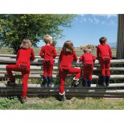 "Lazy One Kids Unisex Red ""Bear Bottom"" FlapJack"