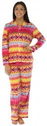 "Frankie & Johnny ""Fun Fairisle"" Fleece Pajama Set"