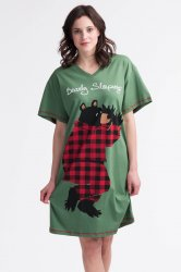 Little Blue House by Hatley Bearly Sleeping Sleepshirt in Green