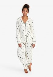 Little Blue House by Hatley Women's Black Bears Cotton Jersey Classic Pajama Set